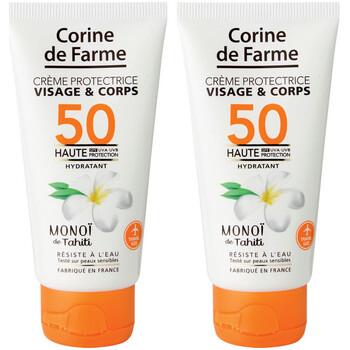 Beauté Protections solaires Corine De Farme Lot de 2 Crèmes protectrice visage&corps SPF50 50m Autres