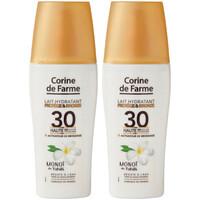 Beauté Protections solaires Corine De Farme Lot de 2 Laits hydratants Protège et Bronze SPF30 Autres