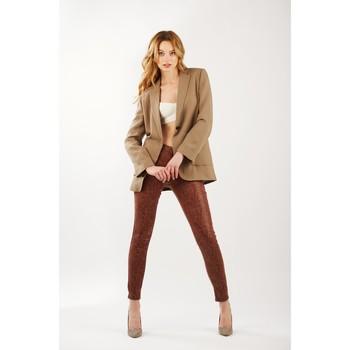 Vêtements Femme Pantalons Toxik3 Pantalon imprimé serpent Rouille