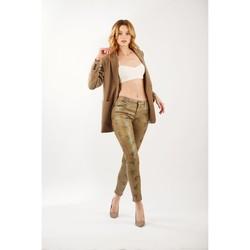 Vêtements Femme Pantalons Toxik3 Pantalon imprimé rayé léo Camel