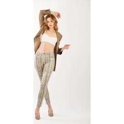 Vêtements Femme Pantalons Toxik3 Pantalon imprimé serpent beige Beige