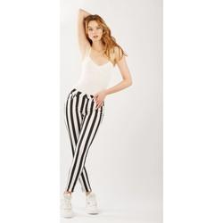 Vêtements Femme Pantalons Toxik3 Pantalon imprimé rayé Noir
