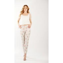 Vêtements Femme Pantalons Toxik3 Pantalon imprimé fleur Gris clair