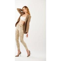 Vêtements Femme Pantalons Toxik3 Pantalon imprimé animal Beige