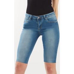 Vêtements Femme Shorts / Bermudas Toxik3 Short cycliste Bleu jean