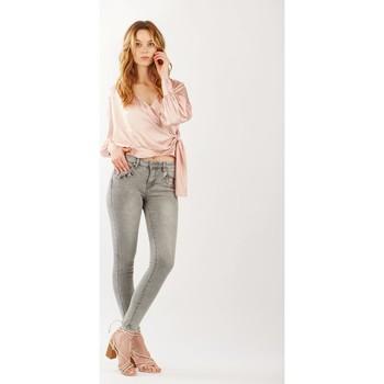 Vêtements Femme Jeans Toxik3 Jean détail croco Gris clair