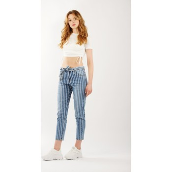 Vêtements Femme Jeans bootcut Toxik3 Jean rayé Bleu jean