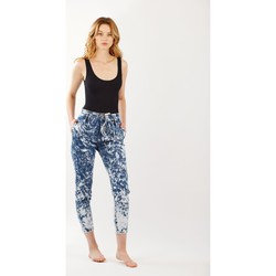 Vêtements Femme Jeans bootcut Toxik3 Jean paper bag tie and dye Bleu jean