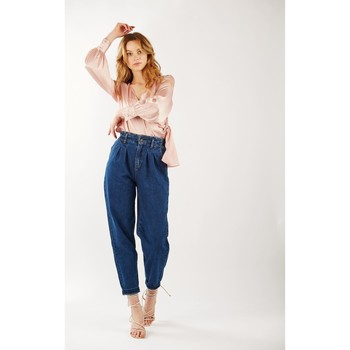 Vêtements Femme Jeans bootcut Toxik3 Jean paper bag Bleu jean