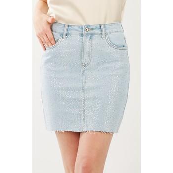 Vêtements Femme Jupes Toxik3 Jupe strass Bleu jean clair