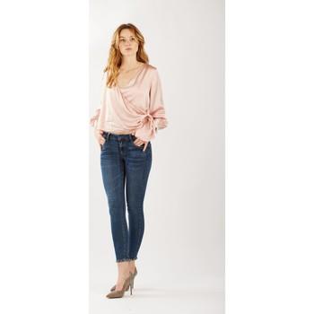 Vêtements Femme Jeans skinny Toxik3 Jean noeux strass Bleu jean
