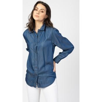 Vêtements Femme Chemises / Chemisiers Toxik3 Chemise basic Bleu jean