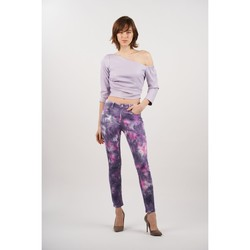 Vêtements Femme Pantalons Toxik3 Pantalon tie and dye Violet