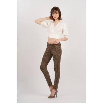 Vêtements Femme Pantalons Toxik3 Pantalon camo Kaki