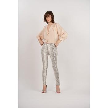 Vêtements Femme Pantalons Toxik3 Pantalon imprimé serpent Beige