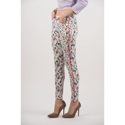 Vêtements Femme Pantalons Toxik3 Pantalon imprimé Blanc
