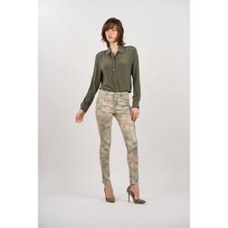 Vêtements Femme Pantalons Toxik3 Pantalon imprimé Beige