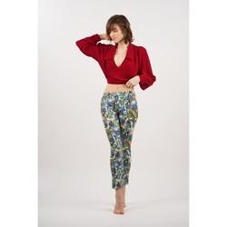 Vêtements Femme Pantalons Toxik3 Pantalon imprimé Bleu
