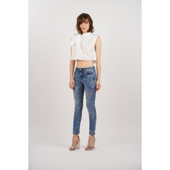 Vêtements Femme Jeans slim Toxik3 Jean imprimé Bleu jean