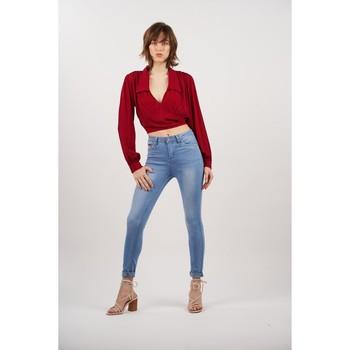 Vêtements Femme Jeans slim Toxik3 Jean slim bleu taille haute Bleu jean clair