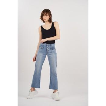 Vêtements Femme Jeans bootcut Toxik3 Jean évasé vintage Bleu jean clair