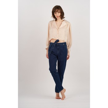 Vêtements Femme Jeans boyfriend Toxik3 Jean paper bag Bleu jean
