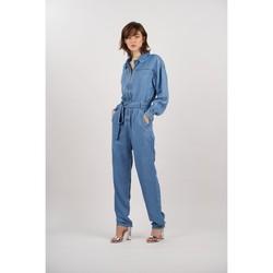 Vêtements Femme Combinaisons / Salopettes Toxik3 Combinaison manches longues Bleu jean clair