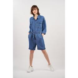 Vêtements Femme Combinaisons / Salopettes Toxik3 Combinaison short Bleu jean