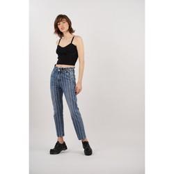 Vêtements Femme Jeans boyfriend Toxik3 Jean papper bag rayé Bleu jean