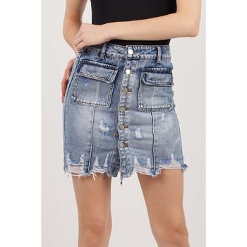 Vêtements Femme Jupes Toxik3 Jupe poches plaqués Bleu jean clair