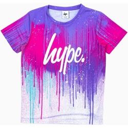 Vêtements Enfant T-shirts manches courtes Hype  Lilas / rose