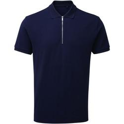 Vêtements Homme Polos manches courtes Asquith & Fox AQ013 Bleu marine