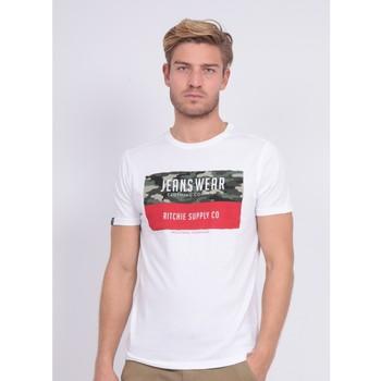 Vêtements Homme T-shirts manches courtes Ritchie T-shirt col rond NALTINO Blanc