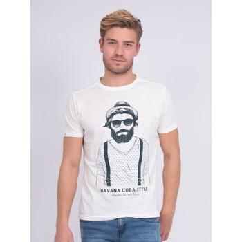 Vêtements Homme T-shirts manches courtes Ritchie T-shirt col rond pur coton NALTOX Ecru