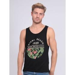 Vêtements Débardeurs / T-shirts sans manche Ritchie Débardeur col rond pur coton NOSTA Noir