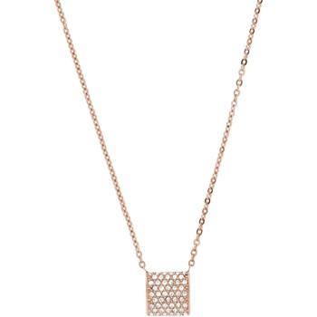 Montres & Bijoux Femme Colliers / Sautoirs Skagen Collier  Crystal Rose Gold Rose