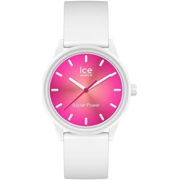 Montres & Bijoux Femme Montres Analogiques Ice Watch Montre Ice solar power coral reef small Blanc