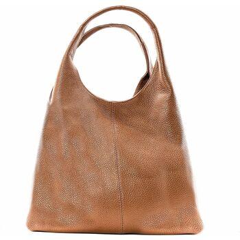 Sacs Femme Sacs porté épaule Oh My Bag BOSTON Marron Camel foncé