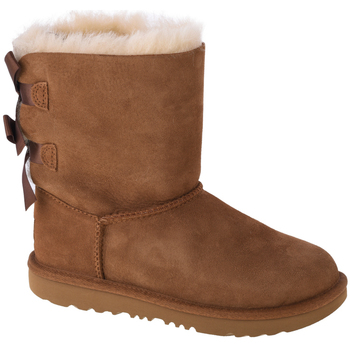 Chaussures Enfant Boots UGG Bailey Bow II Kids 1017394K-CHE Marron