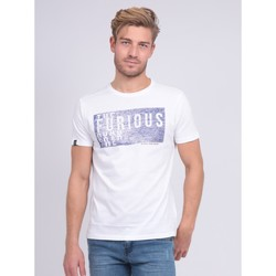 Vêtements Homme T-shirts manches courtes Ritchie T-shirt col rond pur coton NEFERTI Blanc