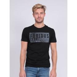 Vêtements T-shirts manches courtes Ritchie T-shirt col rond pur coton NEFERTI Noir