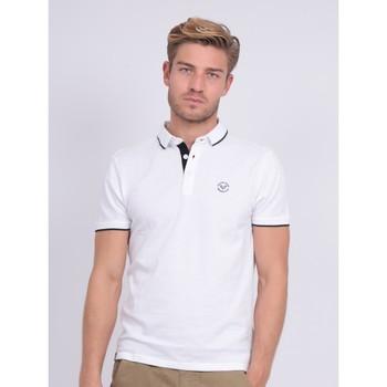 Vêtements Polos manches courtes Ritchie Polo pur coton PADOG Blanc