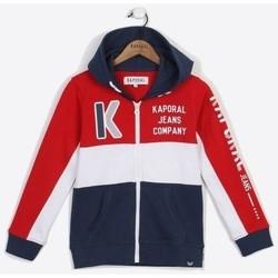 Vêtements Garçon Sweats Kaporal Junior - Veste zippée - bleu blanc rouge Rouge
