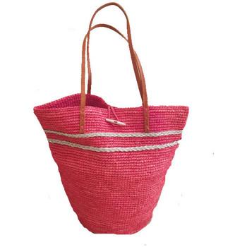 Sacs Femme Cabas / Sacs shopping Le Voyage En Panier Sac Seau crochet rose