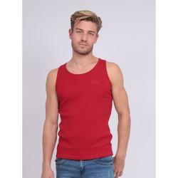 Vêtements Homme Débardeurs / T-shirts sans manche Ritchie Débardeur pur coton organique WILFRIED III Rouge