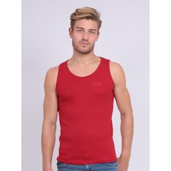 Vêtements Homme Débardeurs / T-shirts sans manche Ritchie Débardeur pur coton organique WILL III Rouge