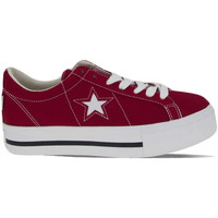 Chaussures Femme Baskets mode Converse One Star Platform Ox Rouge