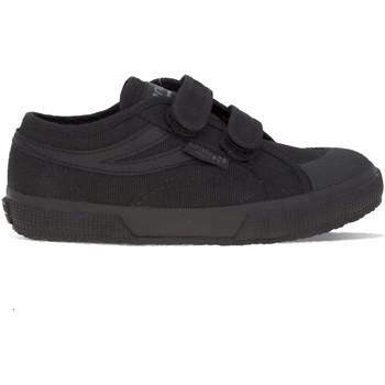 Chaussures Fille Baskets mode Superga 2750 JStrap Panatta Noir