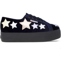 Chaussures Femme Baskets mode Superga 2790 Velvetcotmetw Bleu