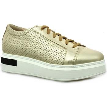 Chaussures Femme Derbies Benoite C Baskets cuir laminé Or